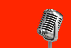 Retro microphone. ( Dynamic microphone ) royalty free stock photography