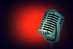 Retro microphone. ( Dynamic microphone ) stock image