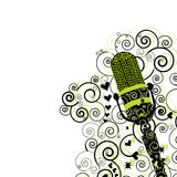 Retro Microphone Flyer/Background Royalty Free Stock Photo