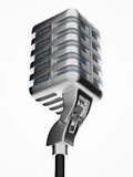 Retro microphone isolated on white Stock Images