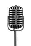 Retro microphone isolated Royalty Free Stock Image