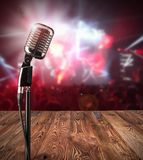 Retro microphone on music concert Stock Image
