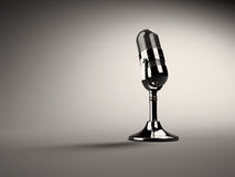 Retro microphone. Retro ( old )microphone. 3d render Royalty Free Stock Image
