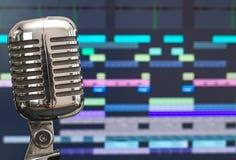 Retro microphone. Stock Photography