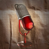 Retro microphone painted on paper Stock Photography