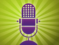 Retro microphone poster stock illustration