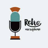 Retro microphone poster isolated icon design Stock Image