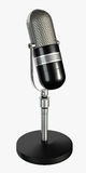 Retro Microphone Render. 1940s ribbon broadcasting microphone render stock illustration