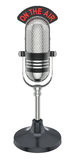 Retro microphone. Round retro microphone - 3D illustration over white background vector illustration