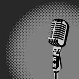 Retro Microphone Spotlight vector Royalty Free Stock Image