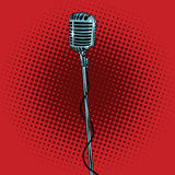Retro microphone and stand Royalty Free Stock Photos