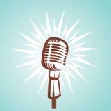 Retro microphone symbol Stock Image