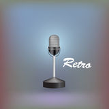Retro microphone. Vector illustration Royalty Free Stock Image