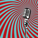 Retro Microphone vector. Retro Microphone for Karaoke Parties Royalty Free Stock Image