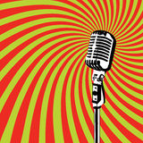 Retro Microphone vector 2 Royalty Free Stock Image