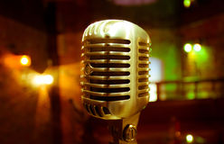 Retro microphone view Royalty Free Stock Images