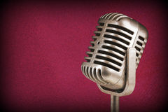 Retro microphone. ) Vintage style or worn paper photo image.  royalty free stock photo