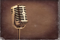 Retro microphone. ) Vintage style or worn paper photo image.  stock images