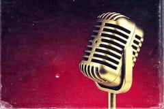 Retro microphone. ) Vintage style or worn paper photo image.  stock photos