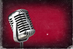 Retro microphone. ) Vintage style or worn paper photo image royalty free stock image