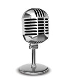 Retro microphone Royalty Free Stock Image