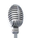 Retro microphone on a white Stock Photos