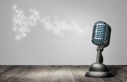 Retro style microphone stock illustration