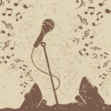 Retro a microphone2 Stock Photo