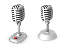 Retro microphones Royalty Free Stock Photography