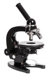 Retro microscope isolated on white background Royalty Free Stock Photos