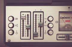 Retro micrphone van de spoelbandrecorder hd foto royalty-vrije stock foto