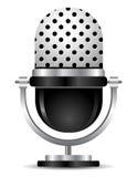Retro mikrofon Fotografering för Bildbyråer