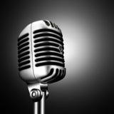 Retro- Mikrofon Stockfotos