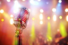 Retro- Mikrofon Lizenzfreies Stockfoto