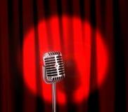 Retro- Mikrofon Stockfoto