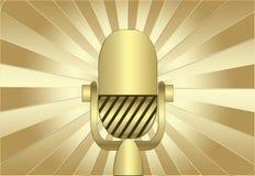 retro mikrofon Arkivfoto