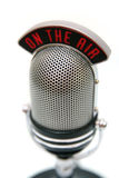 retro mikrofon Arkivbilder