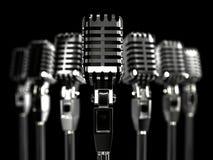 Retro- Mikrofon 3 D Stockbild