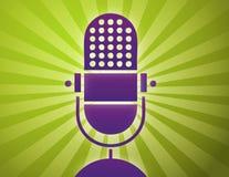 Retro- Mikrofonplakat Stockfotos
