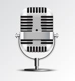 Retro- Mikrofonvektorillustration. Lizenzfreie Stockfotografie