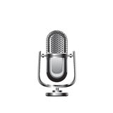 Retro mikrofonvektorillustration Arkivbild