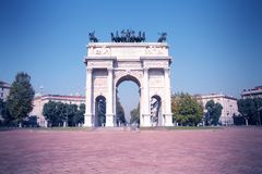 Retro Milan Stock Image