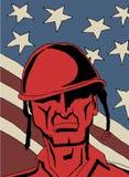 Retro Militair vector illustratie