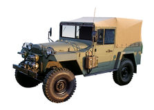 Retro military 4x4 car WW2 period. Isolated with clipping path Royalty Free Stock Photography
