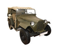Retro Military Car Royalty Free Stock Photo