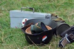Retro military items Stock Photo