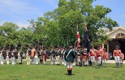 Retro Military Parade Stock Photography