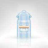 Retro milk metal can Royalty Free Stock Image
