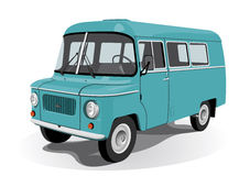 Retro mini bus Stock Photo
