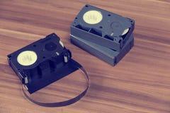 Retro mini cassette di videocassetta Immagine Stock